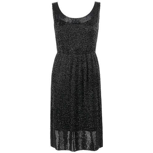Mollie Parnis c.1960's Silk Beaded Dress