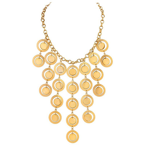 Pierre Cardin Disc Chandelier Necklace