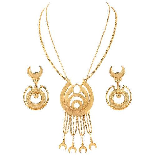 Florenza Egyptian Revival Necklace & Earrings Set