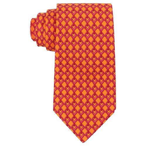 Hermes Chain Link Print Necktie
