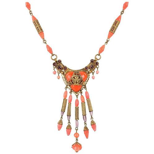 Art Noveau c.1920's Czech Glass Bead Necklace