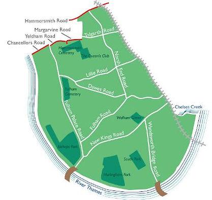 Fulham Benefit Area Map