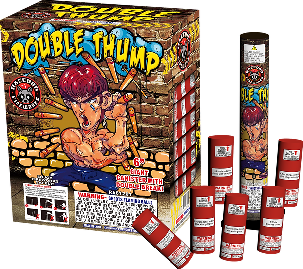 """Double Thump-Double break 6"""" canister shell"""