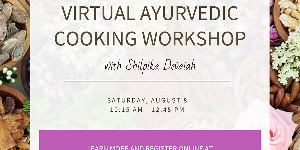 Ayurveda Cooking Workshop With Shilpika