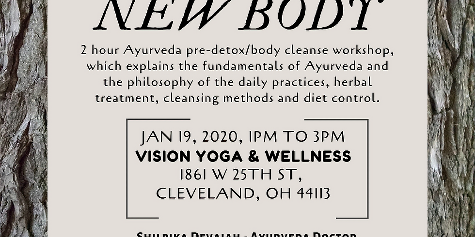 Ayurveda Pre-Detox/Body Cleanse Workshop