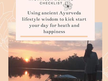 Ayurveda Morning Checklist