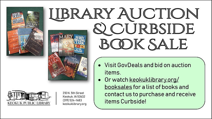 Curbside Book Sale poster