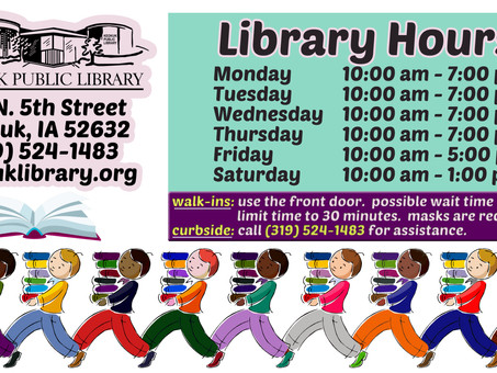 Keokuk Library Resumes In-person Service