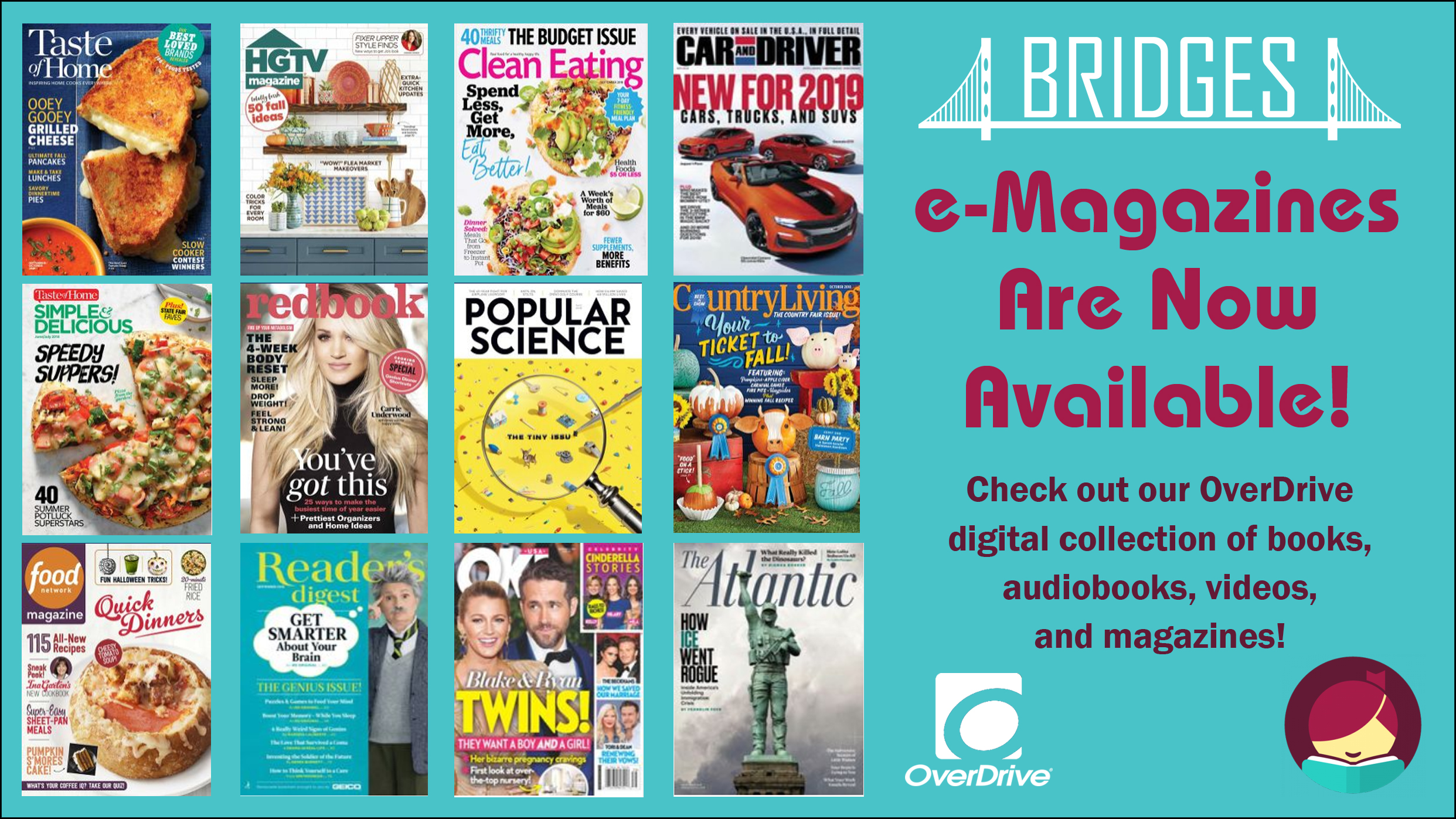 OverDrive - we now have downloadable mag