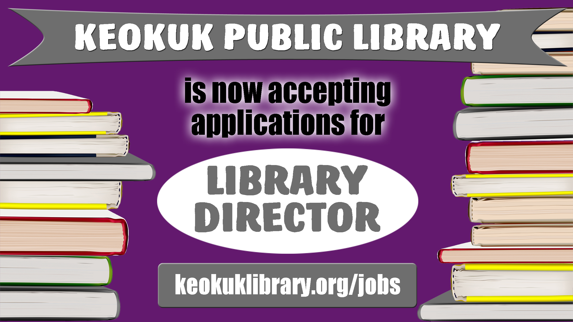 KPL is now accepting applications for Library Director, until the position is filled.
