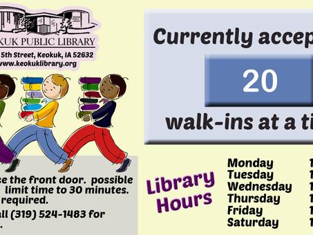 Keokuk Library Increases Capacity Again