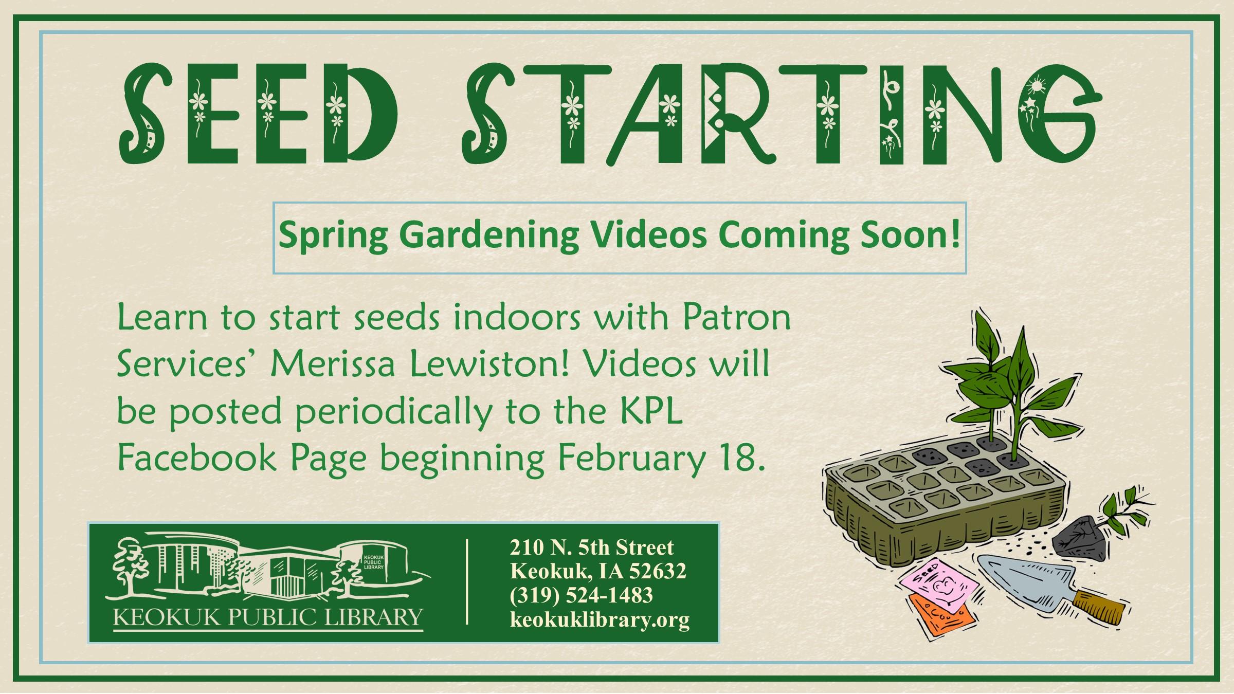 Educational Gardening Videos: Seed Starting