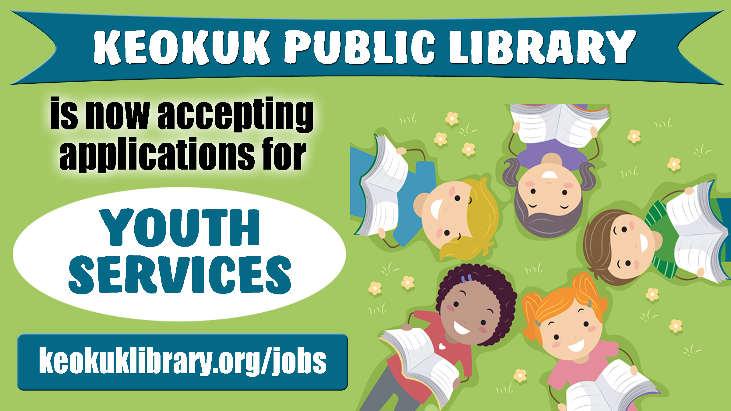 Now Accepting Youth Services applications (due 2/28)