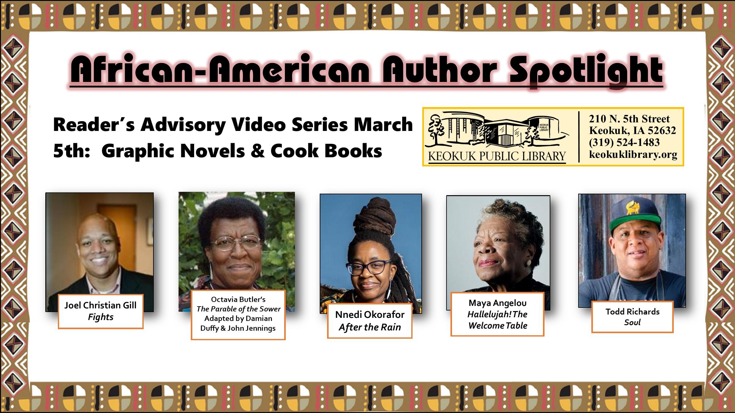 Reader's Advisory Video Series: Graphic Novels & Cookbooks