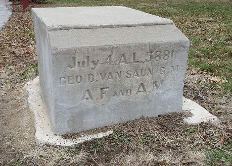 Cornerstone from 3rd and Main Library