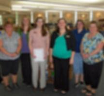 Keokuk Public Library Staff - Mindi Davis, Monica Winkler, Teri Terford, Emily Rohlfs, Angela Gates, Tammy Phillips, Tonya Boltz