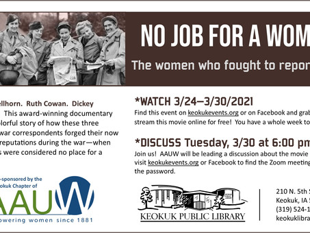 Women's History Documentary and Discussion Planned (AAUW)