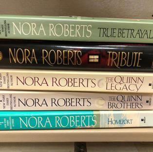 5 Nora Roberts books
