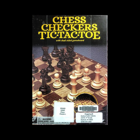 Chess / Checkers / Tic-Tac-Toe : with dual sided gameboard
