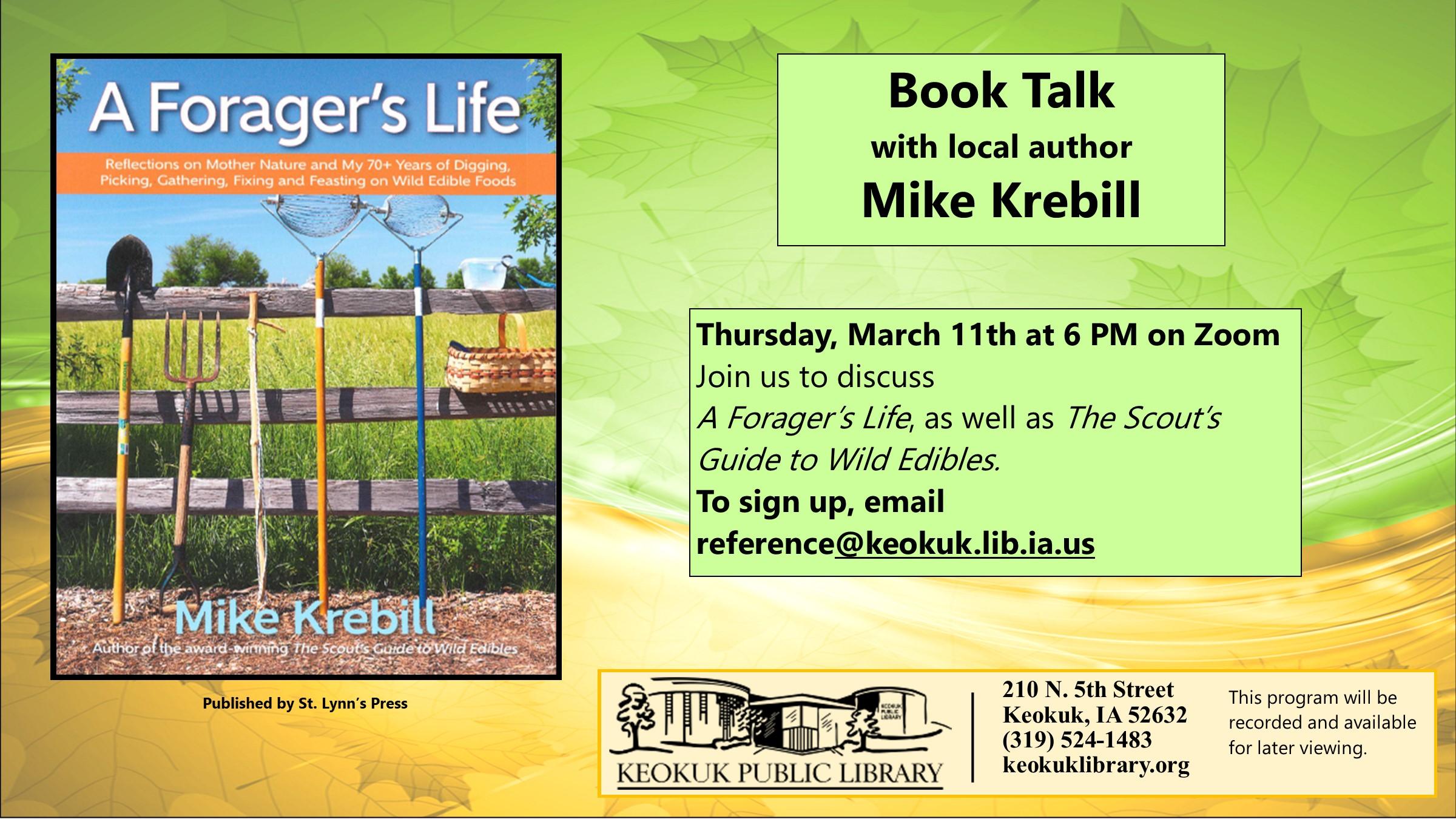 Book Talk with Mike Krebill