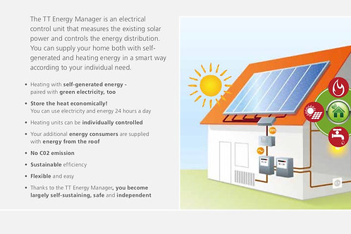 Solar PV System with Sunyboy SMA storage inverter with Technotherm heaters