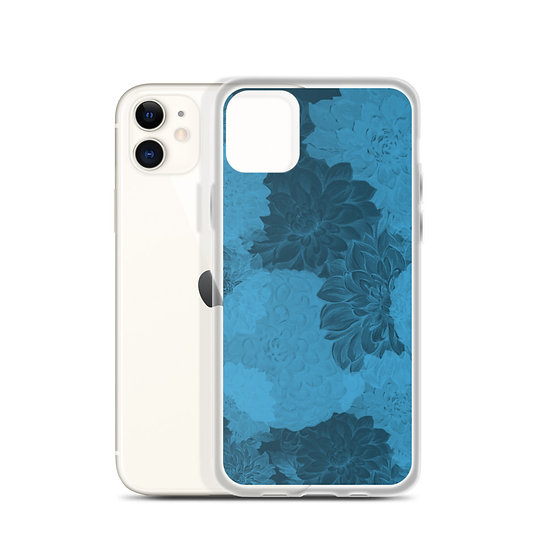 iPhone Case Blue Damask