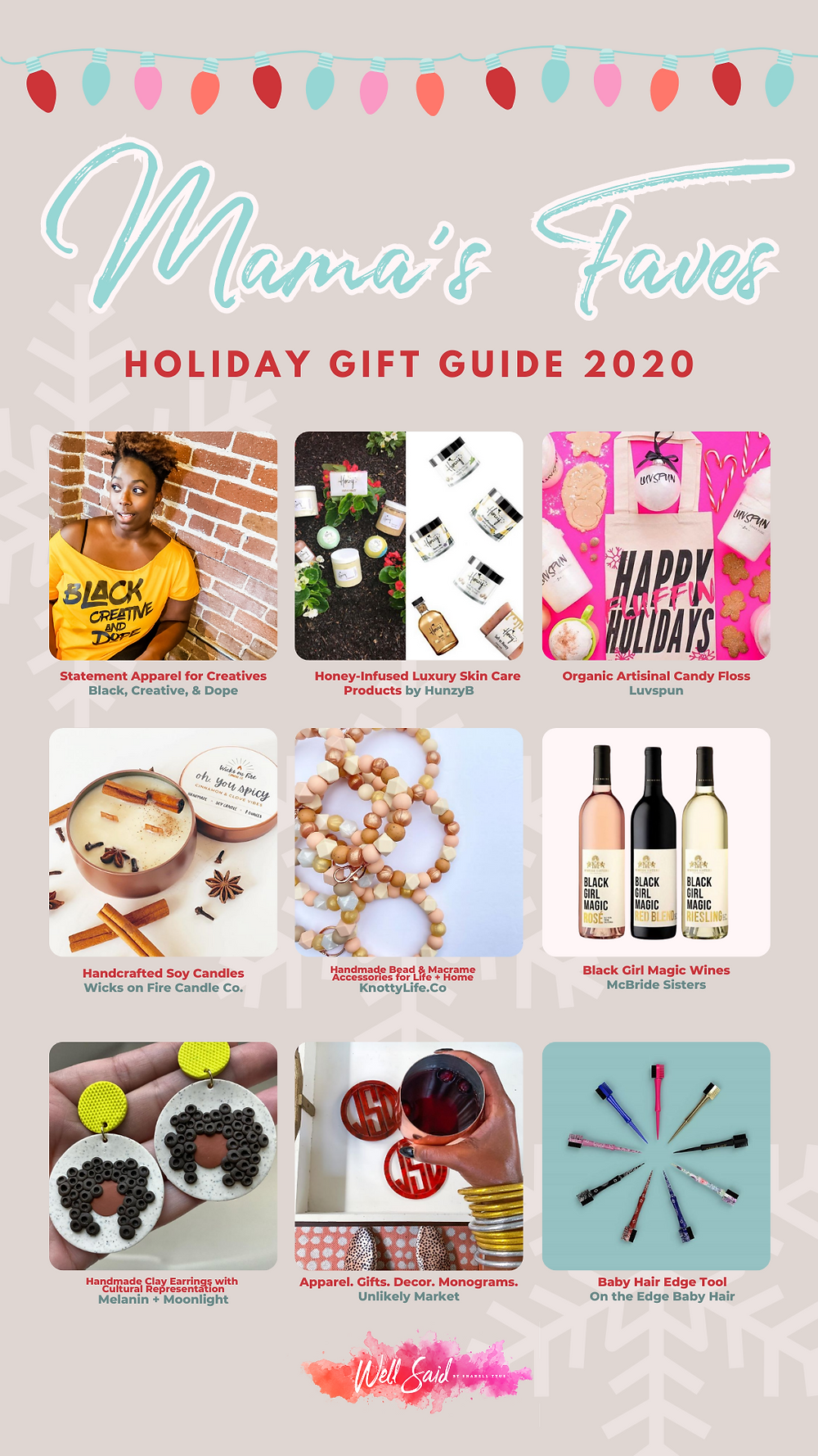 Shanell Tyus Moms Black Moms African American Moms Black Business Holiday Gift Giving Guide for Her