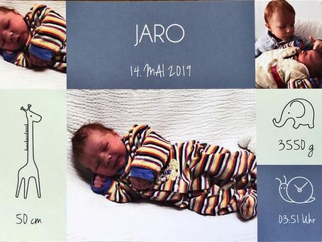 Herzlichen Glückwunsch zur Geburt von Jaro!