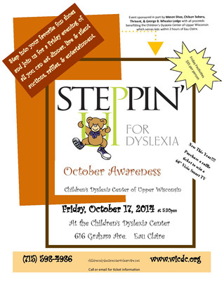Join us for the Steppin For Dyslexia October 17th!