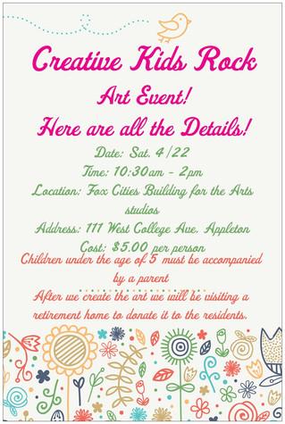 Creative Kids Rock Art Event!