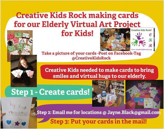 Virtual Art Project Cards for our Elderly