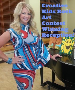 Creative Kids Rock Winning Art Reception