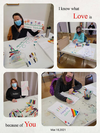 """Creating """"Creative"""" Happy Birthday Bags for Meals on Wheels!"""