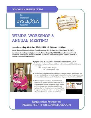 Jayne Black Keynote Speaker for the International Dyslexia Association in Wisconsin!