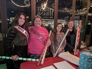 Gift wrapping for Miss Amazing Fundraiser