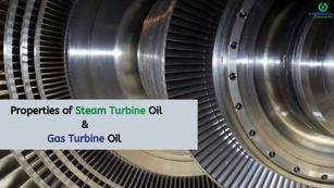 Mandatory properties for steam & gas turbine oil
