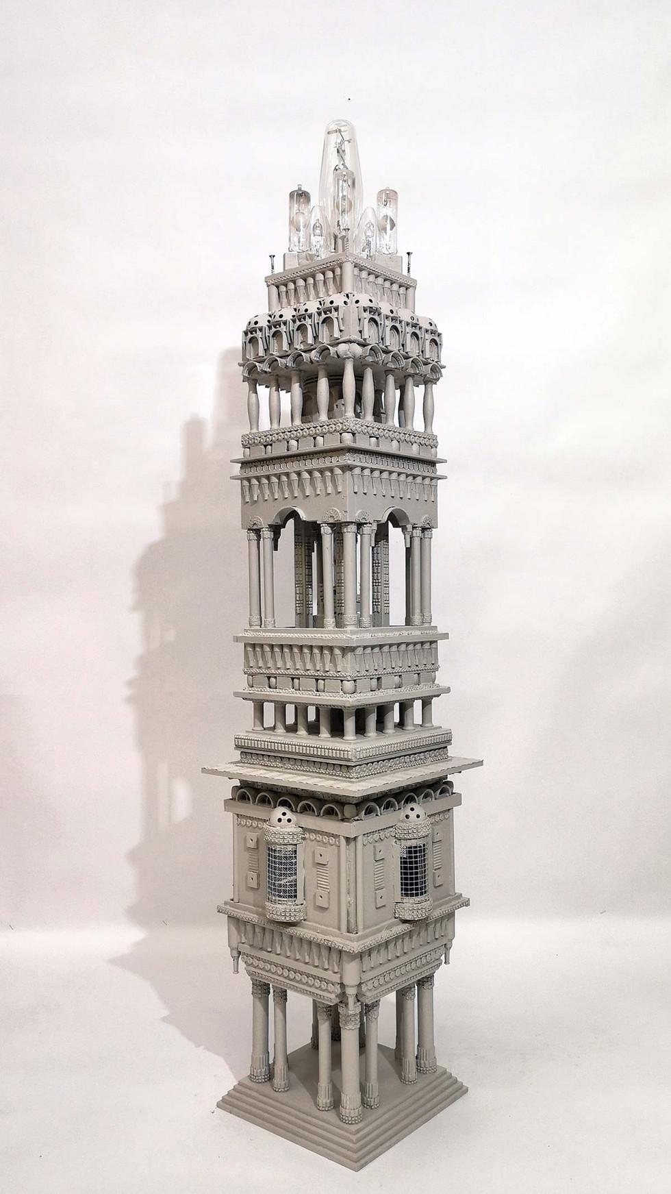 Mandir-Lux-Valon-temppeli,-mixed-media-2