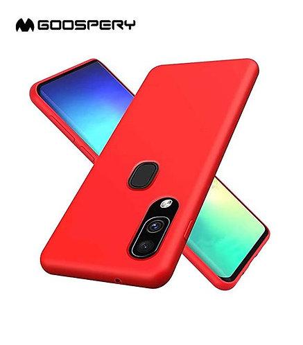 Goospery, Samsung Galaxy A20  A30 (A205A305), Liquid Silicone Case - Red