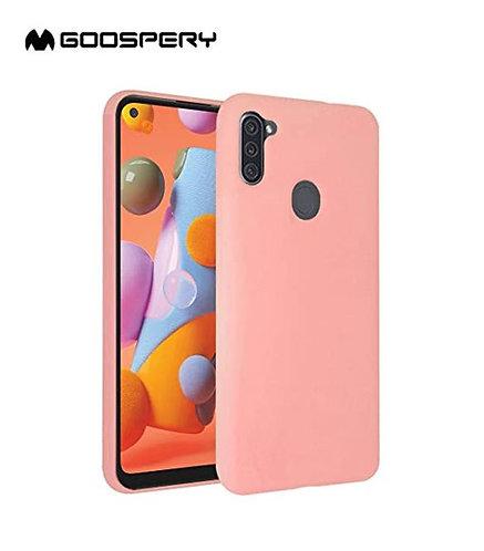 Goospery, Samsung Galaxy A11, Liquid Silicone Case - Pink Sand