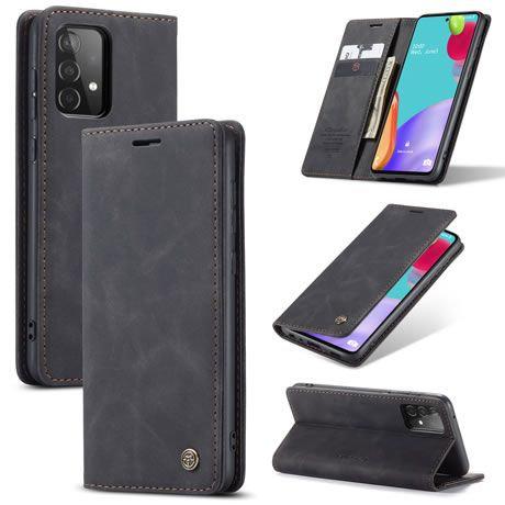 CaseMe, Samsung Galaxy A52 (5G), Wallet Case - Black