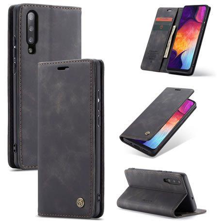 CaseMe, Samsung Galaxy A50, Wallet Case - Black
