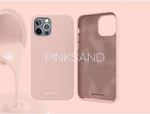 Goospery, iPhone 12 Mini, Liquid Silicone Case - Pink Sand