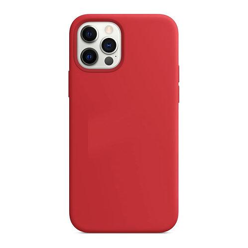 Laudtec, iPhone 12 Pro MAX, Liquid Silicone MagSafe Case - Red