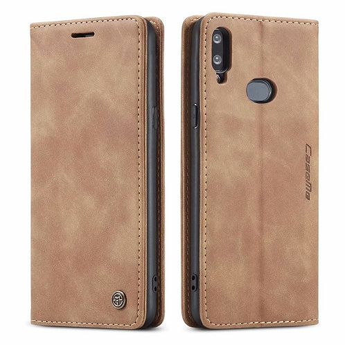 CaseMe, Samsung Galaxy A10S, Wallet Case - Brown