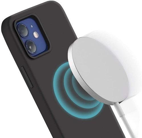 Laudtec, iPhone 12, 12 Pro, Liquid Silicone MagSafe Case - Black