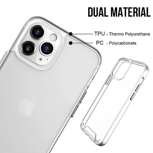 Apple, iPhone 7 , 8 , SE 2020, Space Case Collection, Dual Material - Clear