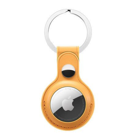 Leather Key Ring for Apple AirTag - Orange