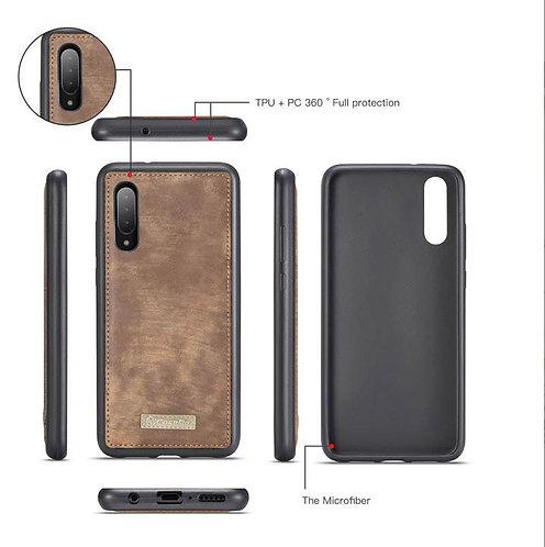 CaseMe, Samsung Galaxy A70, Detachable 2 in 1, Zipper Wallet Case - Brown