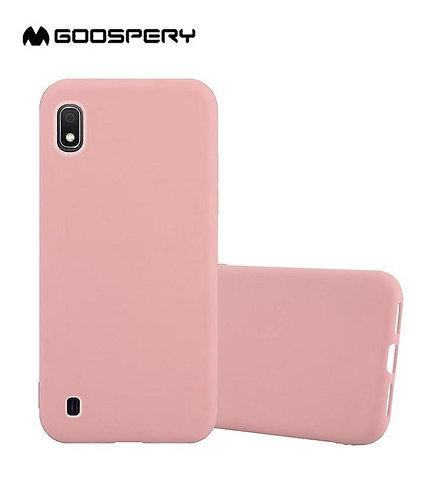 Goospery, Samsung Galaxy A10 (A105), Liquid Silicone Case - Pink Sand