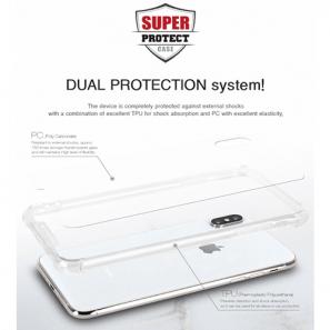 Goospery, Galaxy A80 (A805), Super Protect, Clear Case - Air Cushioned Corners